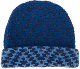 Etro pattern knit beanie - men - Wool - One Size