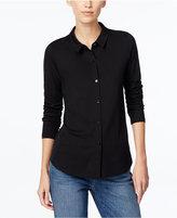 Eileen Fisher Long-Sleeve Button-Front Shirt