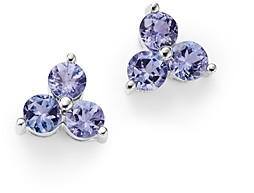 Bloomingdale's Tanzanite Three Stone Stud Earrings in 14K White Gold - 100% Exclusive