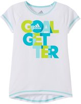 adidas Drop Tail Raglan (Toddler/Kid) - White/Green - 4
