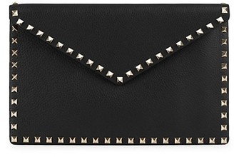 Valentino Large Rockstud Leather Clutch
