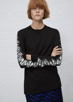 Proenza Schouler black long sleeve printed t-shirt