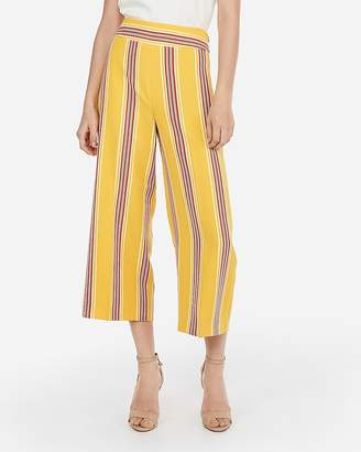 Express High Waisted Multi-Striped Culottes