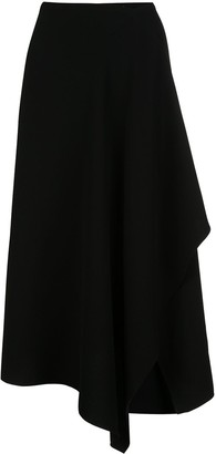 Natori Asymmetric Draped Skirt