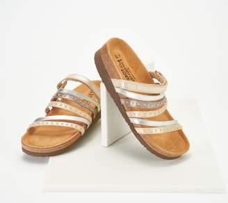 Naot Footwear Leather Multi-Strap Slide Sandals - Prescott