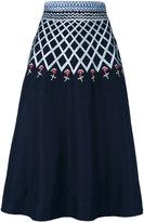 Temperley London Poppy Field midi skirt