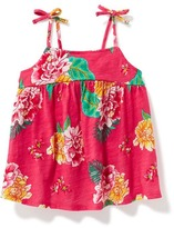 Old Navy Floral Tie-Shoulder Swing Top for Toddler
