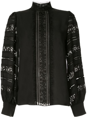 Andrew Gn Lace-Detail Blouse