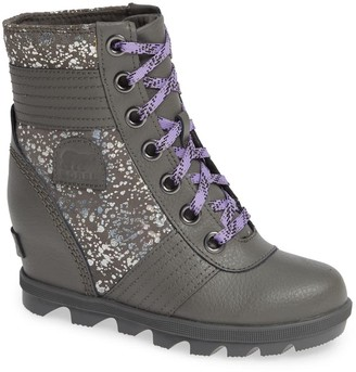 Sorel Lexie Shimmery Waterproof Wedge Bootie (Little Kid & Big Kid)