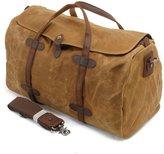 Zicac New Style Vintage Retro Unisex Big Holdall Oily Waxy Batik Canvas Travel Handbag Waterproof Cross Body Bag Messenger Bag Large Capacity Luggage Bag Outing Leisure Bag