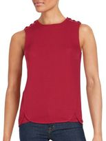 Romeo & Juliet Couture Solid Crewneck Sleeveless Top