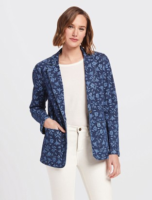 Draper James Floral Denim Blazer