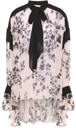 Philosophy di Lorenzo Serafini Pussy-bow Floral-print Georgette Blouse