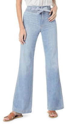 Joe's Jeans The High Rise Belted Flare Jeans