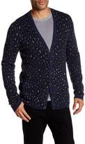 John Varvatos Knit Leopard Cardigan