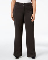 Alfani Plus Size Curvy-Fit Slimming Bootcut Pants, Only at Macy's