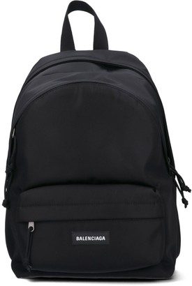 Balenciaga Logo Front Pocket Backpack