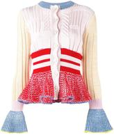 Alexander McQueen peplum cardigan - women - Silk/Polyamide/Spandex/Elastane/Wool - XS