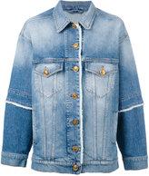 Fausto Puglisi frayed edge denim jacket - women - Cotton/Spandex/Elastane - 38
