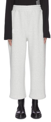 Alexander Wang Dense fleece oversized logo print sweatpants