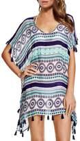 Yonala Women's Classic Striped Chiffon Beachwear Bikini Swimwear Beach Dress Cover Up