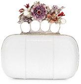 Alexander McQueen Nova Whips Snakeskin Clutch Bag, White