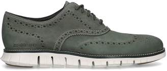 Cole Haan SuedeZerogrand Wingtip Oxford Shoes