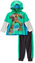 Children's Apparel Network TMNT 'Leo' Hoodie & Track Pants - Toddler
