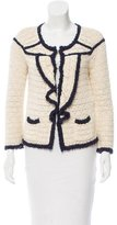 RED Valentino Ruffle-Accented Open Knit Cardigan