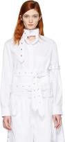 Craig Green White Cotton Cropped Shirt
