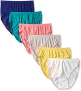 Fruit of the Loom Women's 6 Pack Seamless Hi-Cut