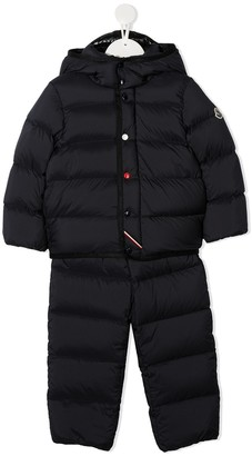 Moncler Enfant Quilted Puffer Onesie