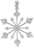 "Direct-Jewelry 14K Gold .77 Ct Diamond Snowflake Pendant with 18"" Chain"