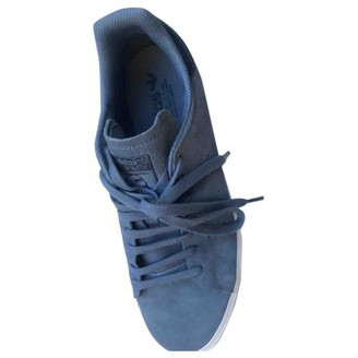 adidas Stan Smith Blue Suede Trainers