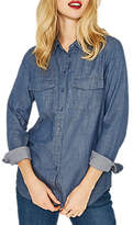 Oasis Denim Wrap Back Shirt, Denim