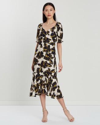 Whistles Ebba Tropical Flower Silk Dress
