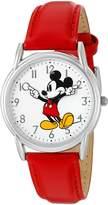 Disney Women's 'Mickey Mouse' Quartz Metal Automatic Watch, Color: (Model: W002753)