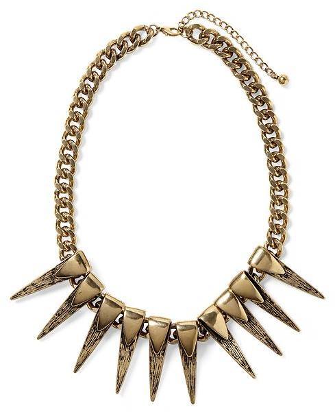 Rachel Zoe Hive & Honey Double Spiked Necklace