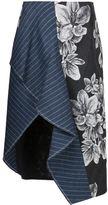 3.1 Phillip Lim floral asymmetric skirt - women - Cotton/Polyester/Viscose - 8