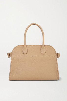The Row Margaux 10 Buckled Textured-leather Tote - Beige