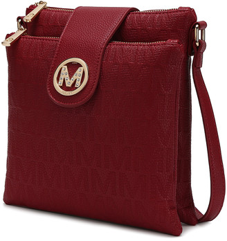 MKF Collection by Mia K. Women's Crossbodies Red - Red Signature Marietta Crossbody Bag