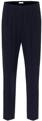 Brunello Cucinelli High-rise wool-blend slim pants