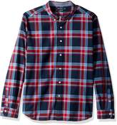 Nautica Men's Long Sleeve Stretch Yarn Dyed Oxford Plaid Shirt