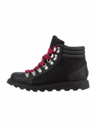 Sorel Leather Lace-Up Boots Black