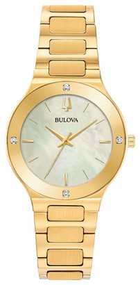 Bulova Women's Analogue Quartz Watch with Stainless Steel Strap 97R102