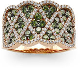 JCPenney FINE JEWELRY LIMITED QUANTITIES LeVian Grand Sample Sale Exotics 1 CT. T.W. White and Color-Enhanced Green Diamond Ring