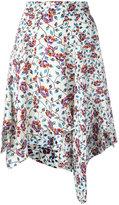 Isabel Marant asymmetric floral print skirt - women - Silk - 38