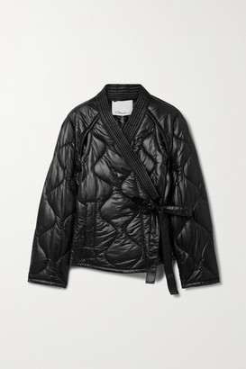 3.1 Phillip Lim Belted Quilted Ripstop Jacket - Black