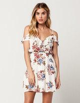 Blu Pepper Floral Ruffle Dress