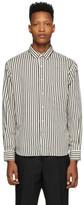 Ami Alexandre Mattiussi White and Black Striped Summer Fit Shirt
